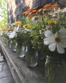 Pint bouquets